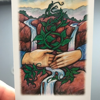 Two of Water card from the Vision Quest deck