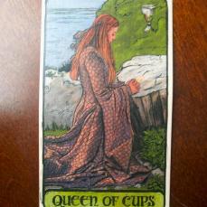 Queen of Cups from Rowan's GoT deck