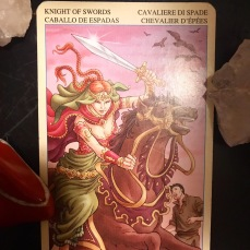 Knight of Swords from the Universal Goddess Deck