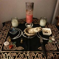 Kate's current altar set-up