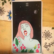 3 of Wands from the Moon Power deck