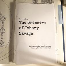 The Grimoire of Johnny Savage zine, available at Lumo's Etsy store